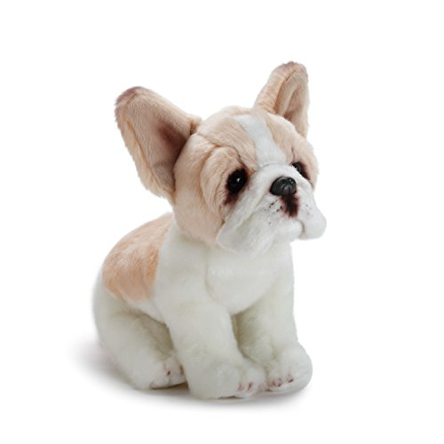 Nat and Jules Sitting Small French Bulldog Light Brown And White Children's Plush Stuffed Animal -