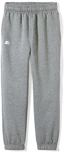 Starter Boys' Elastic-Bottom Sweatpants with Pockets, Amazon Exclusive, Iron Grey Heather, L ()