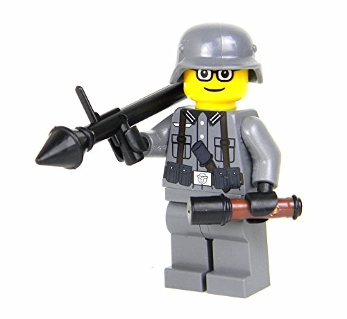 German WW2 Anti-Tank Soldier (SKU23)- Battle Brick Custom (German Anti Tank Weapon)