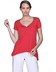 Fresh Laundry Womens NS7391 Henley T-Shirt