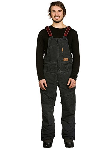 Oakley Timber Biozone Shell Overall Men's Ski Snowmobile Bibs, Jet Black, - Clothing Discount Oakley