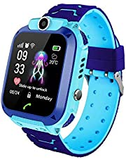 MOGOI Q12 Kids Smart Watch Phone Tracker For Children Student Boys Girls Smartwatch Waterproof 1.44 Inch Touch Glass Sport Wrist With Position Tracker Dialer Alarm Games