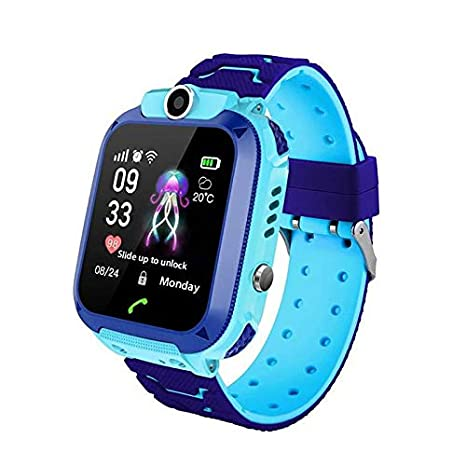 Lesgos Q12 Kids Smart Watch Phone for Children Student Boys Girls Smartwatch Waterproof IP6 1.44 Inch Touch Glass Sport Wrist with Position Tracker ...
