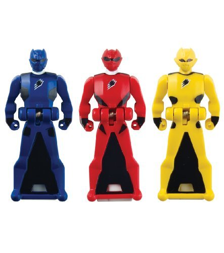 Power Rangers Super Megaforce - Jungle Fury Legendary Ranger Key Pack, Red/Blue/Yellow -