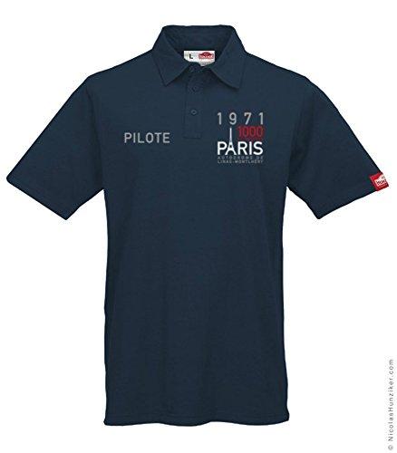 1971 Paris 1000 km Drivers' Polo by Nicolas Hunziker – Navy - Sizes S to 2XL (XL) (Racing Polo Mens)