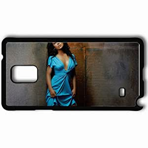 Personalized Samsung Note 4 Cell phone Case/Cover Skin Alyssa milano actresses famous for being star of charmed and the blue hour and pathology Black by lolosakes