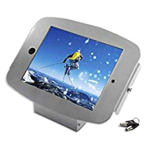 Maclocks Space Enclosure Kiosk with 45-Degree Mount for ipad-Mini, Silver (101S235SMENS)