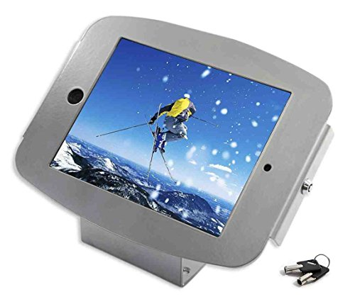 Maclocks 101S224SENS iPad Space Enclosure Kiosk With 45-Degree Mount for iPad / iPad Pro 9.7 (Silver) by Compulocks