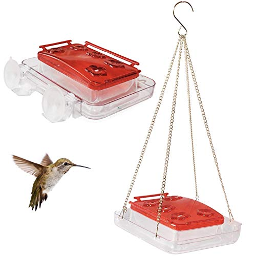 Cuboid Hummingbird Feeder 2-in-1...