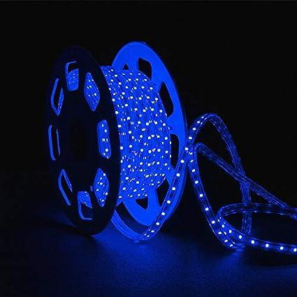 16.4 Feet Blue SMD3528 110V 130V Flexible Flat LED Strip Rope Celling Light Lamp