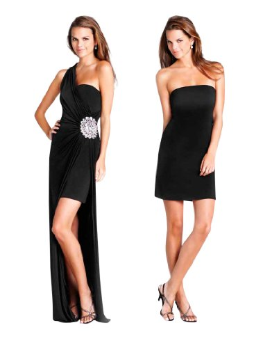 Convertible to Blush Long 028 Black Dress Short Style SEEqInRt