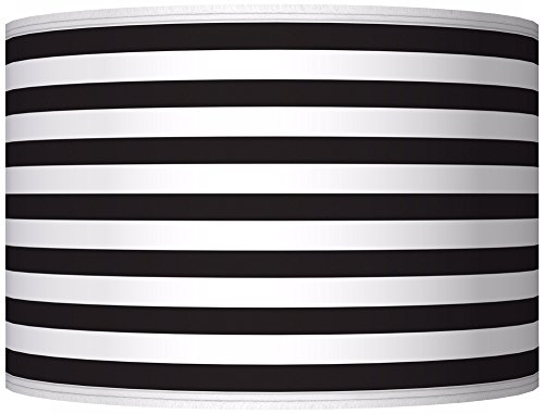 Black Horizontal Stripe Giclee Shade 12x12x8.5 (Spider) (Horizontal Stripe Giclee Shade)