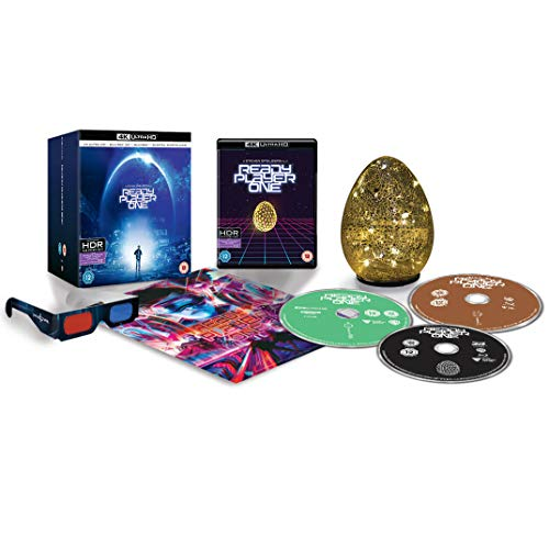 Ready Player One 4k Ultra Hd Exclusive Egg Light Collector S Edition Includes 3d Blu Ray Blu Ray Movies Tv