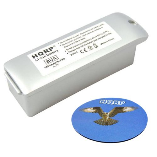 HQRP Battery for GARMIN Zumo 400, 450, 500, 500 Deluxe, 550, 010-10863-00, 011-01451-00 GPS Navigator + HQRP Coaster by HQRP