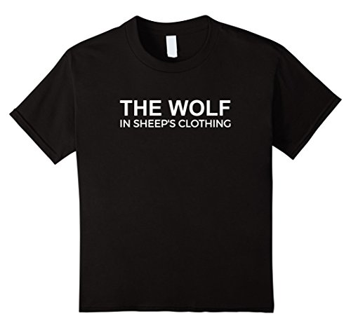 Kids The Wolf of All Streets in sheep's clothing T-Shirt Wolves 12 (Wolf In Sheep's Clothing Halloween Costume)