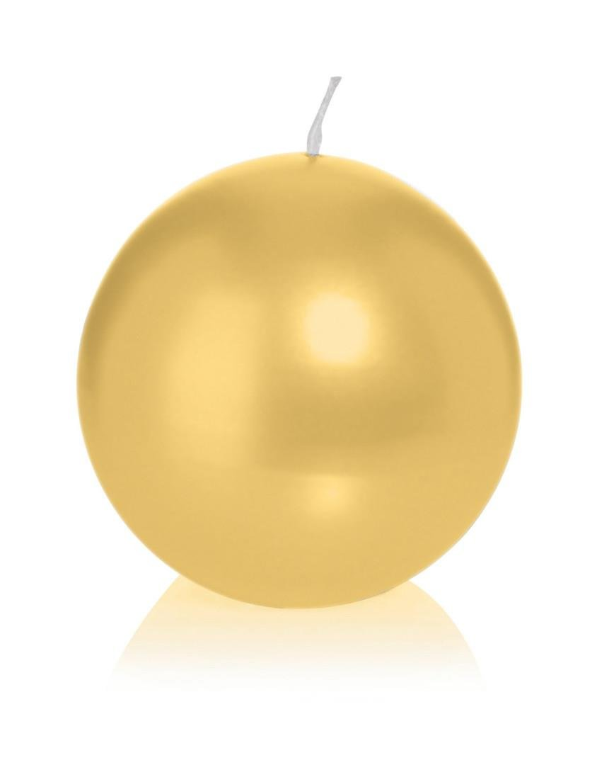 WIEDEMANN Ball Candles Wax Cello-Gold, 6x 6cm 6Units