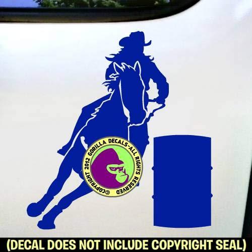 Barrel Racing Rodeo Horse Rider Racer Race Vinyl Decal Sticker B