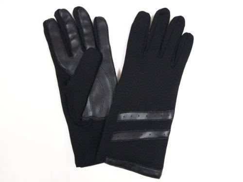 ニット素材の裏地付二枚手袋 MST1124