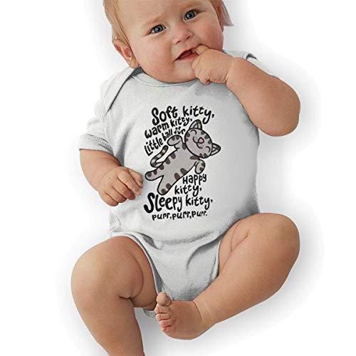 (JRMM The Big Bang Theory Soft Kitty Unisex Classic Boys & Girls Romper Baby GirlJumpsuit)