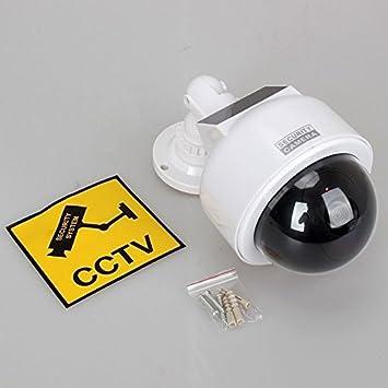 Dynamic CCTV - Cámara de vigilancia de Domo para Interiores y Exteriores, 2 Pilas AA