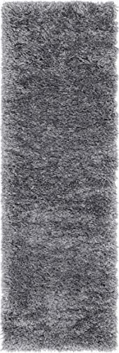 Infinity Collection Solid Shag Runner Rug by Rugs.com – Smoke 2' x 6' High-Pile Plush Shag Rug Perfect for Hallways, Living Rooms, Bedrooms and More - SOFT AND DURABLE CONSTRUCTION - Made with high quality polypropylene that is as durable as it is soft. Our rugs stand up abuse even in high-traffic areas. PERFECTLY SIZED - 5' x 8' Area rugs are the perfect size for Living Rooms, Bedrooms, Dining Rooms , or anywhere you want to bring a little more style into your home EASY TO CLEAN - Our rugs are waterproof, mold and mildew resistant, stain resistant, and shed proof. With regular vacuuming (no beater bar!), your rug will last for years to come. - runner-rugs, entryway-furniture-decor, entryway-laundry-room - 41s6WDAFRcL -