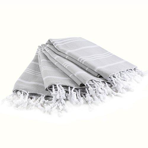 Buy Turkish Hand Towel: Cacala Pure Series Turkish Hand Towels, Silver Grey