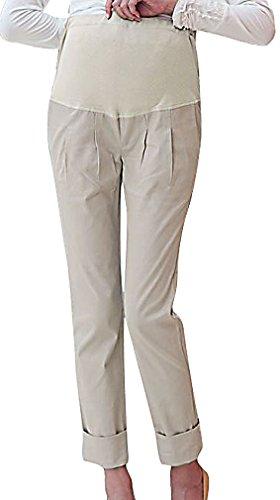 MTRNTY Women's Maternity High Elastic Waist Comfortable Regular Fit Plain Pants