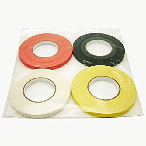 JVCC Gaff-Color-Pack Gaffers Tape Multi-Pack: 1/2 in. x 55 yds. 4 Rolls/Pack (Black, Red, White, (4x4 Spike)