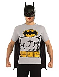 Rubies Costume DC Comics Batman T-Shirt with Cape and Mask, Black