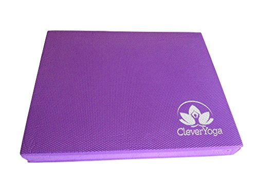 Clever Yoga Foam Pads for Exercise - Light Purple Extra Large 19.75 x 15.75 x 2.5 inches (Best Balance Exercises For Seniors)