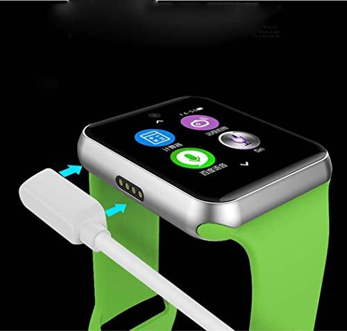 Lemfo LF07 Bluetooth Smart Watch 2.5D ARC HD Screen Support SIM Card Wearable Devices SmartWatch for iOS Android, arm Green