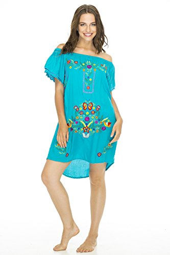 Dress Margarite Turquoise Medium (Sexy Mexican Woman)