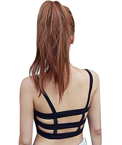 f583c94989 Sexy Celebrity Women Bralette Caged Back Cut Out Padded Bra Bralet Crop  Tops (Black)  Amazon.co.uk  Kitchen   Home