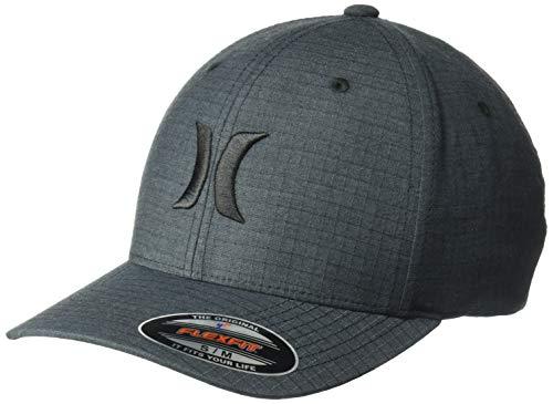 Hurley Men's Black Textures Baseball Cap, (Ripstop), L-XL