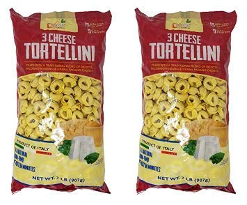 Food with Purpose 3 Cheese Tortellini All Natural, 15 Servings, From Italy 2 LB (Pack of 2) by Food with Purpose