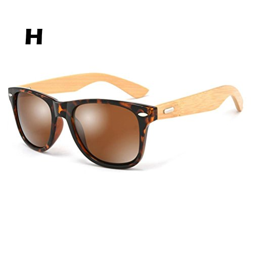 DEESEE(TM) Women Men Summer Travel Vintage Retro Bamboo Sunglasses - Glasses Prescription Strongest