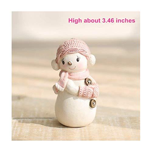 Mini Snowman with Winter Scene Figurine - 3.4
