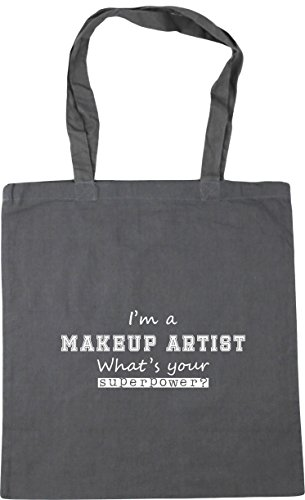 Bag Beach a Gym 10 Grey Makeup What's HippoWarehouse Shopping Superpower Graphite Your Artist x38cm litres Tote 42cm I'm U4wBFP