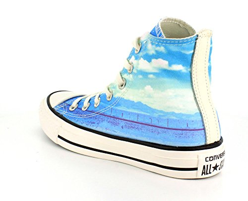 Converse All Star Hi Can Graphics, Women's Lace up Shoes Sky Blue / White