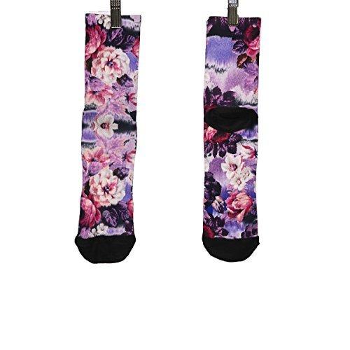 Shebeest : Womens Clothing - Shebeest 2018 Women's Short Peonies Cycling Socks - 3657-PN (Peonies-Multi - L/XL)