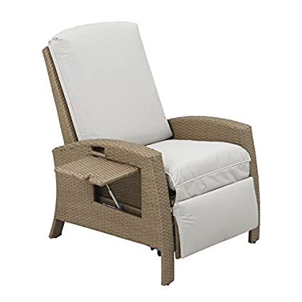 Outsunny Outdoor Rattan Wicker Adjustable Recliner Lounge Chair - Beige and Gray  sc 1 st  Amazon.com & Amazon.com : Outsunny Outdoor Rattan Wicker Adjustable Recliner ...