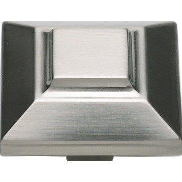 Atlas Homewares 4002-BRN 1-1/2-Inch Trocadero Beveled Knob in Brushed Nickel