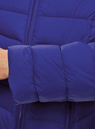 Ultra con oodji Acolchada Chaqueta Cuello Azul 7500n Mao Mujer dwTIHqTx