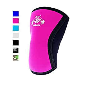 KneeSleeve Squats Powerlifting Knee Wraps Squats Best Knee Compression Sleeve Support For Running Ideals Squat Knee Support Compression Brace For Powerlifting For Both Women & Men Pink S [ 1 Sleeve]