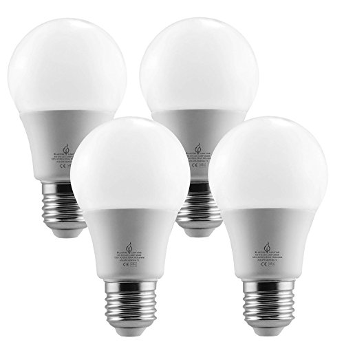 BLUEFIRE 6 Watts A19 LED Light Bulbs, Natural Daylight 5000K, 600 Lumens, 40W Replacement, Flickering-Free Light - 4PCS Value Pack, Great Light Output with Low Energy Use by Bluefire Lighting (Image #3)