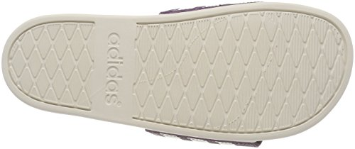 adidas Herren Adilette Cloudfoam Plus Stripes Dusch-& Badeschuhe Mehrfarbig (Noble Red S18/chalk White/noble Red S18 Noble Red S18/chalk White/noble Red S18)