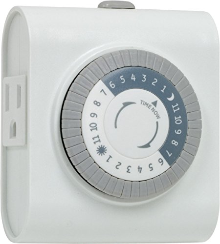 General Electric 15075 3 Pack 24-Hour 2 Outlet Indoor Heavy Duty Timer, White by GE