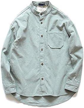 RSL Cuello de Pana Informal Camisa de Color sólido Delgado de la Camisa Marea jóvenes de