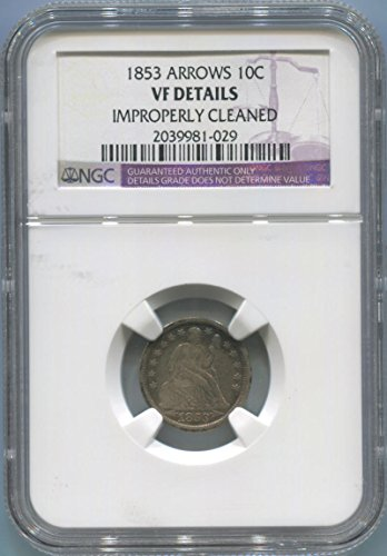 1853 P Seated Liberty Dime Dime VF Details NGC