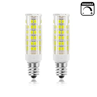 pack of 2shknh dimmable mini candelabra e11 base led light bulb 5w repalcement 50w e11 halogen lamp500lm jd t4 bulb for ceilling fan